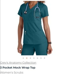 Lot of 5 Greys anatomy 3 pocket mock wrap tops
